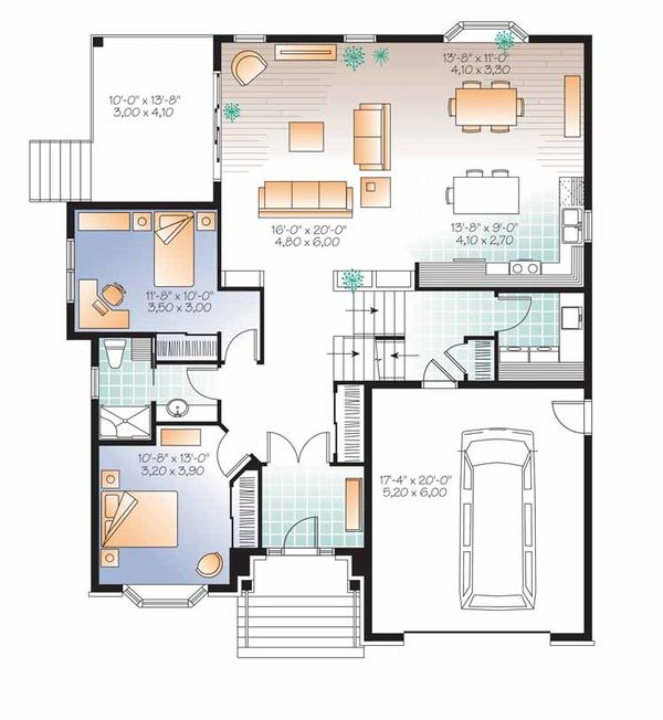 European Floor Plan - Main Floor Plan Plan #23-2541