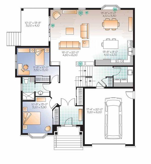 European Floor Plan - Main Floor Plan #23-2541