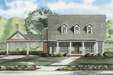 Colonial Exterior - Front Elevation Plan #17-2862