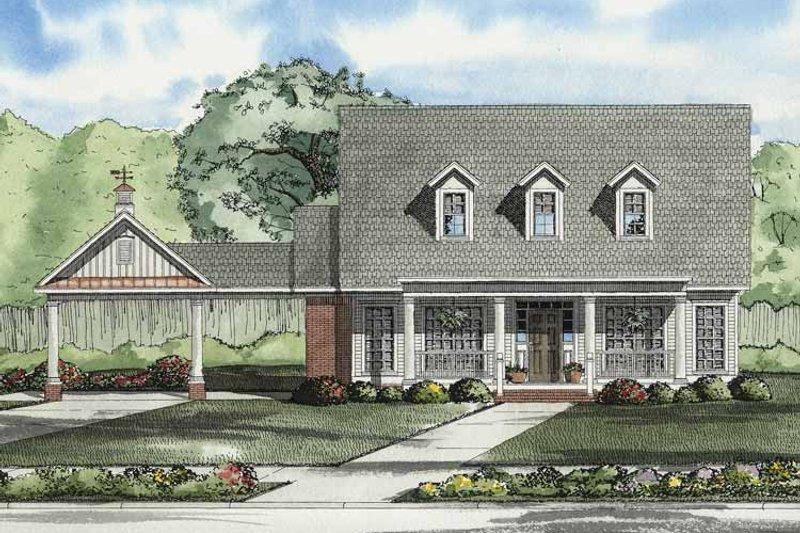 Colonial Exterior - Front Elevation Plan #17-2862 - Houseplans.com