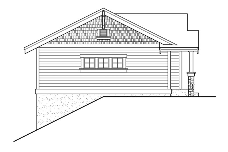 Craftsman Exterior - Other Elevation Plan #132-525 - Houseplans.com