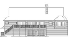 Ranch Exterior - Rear Elevation Plan #57-635