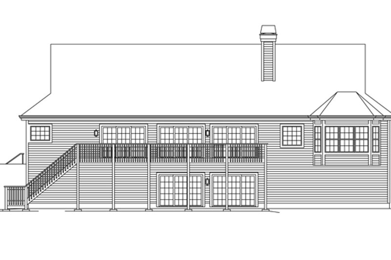 Ranch Exterior - Rear Elevation Plan #57-635 - Houseplans.com