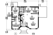 European Style House Plan - 7 Beds 4 Baths 5675 Sq/Ft Plan #25-4614 Floor Plan - Main Floor Plan