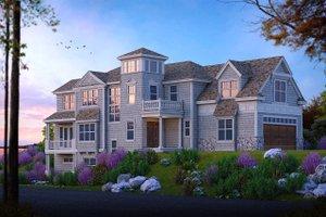 Beach Exterior - Front Elevation Plan #103-206