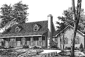 Farmhouse Exterior - Front Elevation Plan #12-202