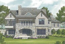 House Design - Craftsman Exterior - Rear Elevation Plan #453-578