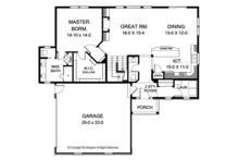 Colonial Floor Plan - Main Floor Plan Plan #1010-150