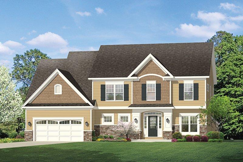 Colonial Exterior - Front Elevation Plan #1010-155 - Houseplans.com