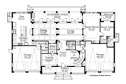 Colonial Style House Plan - 6 Beds 5.5 Baths 5076 Sq/Ft Plan #1058-82 Floor Plan - Main Floor Plan