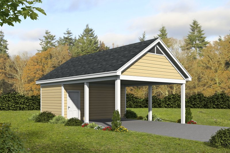 Country Exterior - Front Elevation Plan #932-180