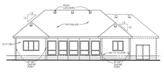 Craftsman Exterior - Rear Elevation Plan #20-2066 - Houseplans.com