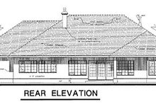 European Exterior - Rear Elevation Plan #18-171