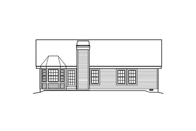 Traditional Exterior - Rear Elevation Plan #57-367 - Houseplans.com