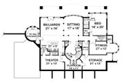 Classical Style House Plan - 5 Beds 7 Baths 5699 Sq/Ft Plan #119-363 Floor Plan - Lower Floor Plan
