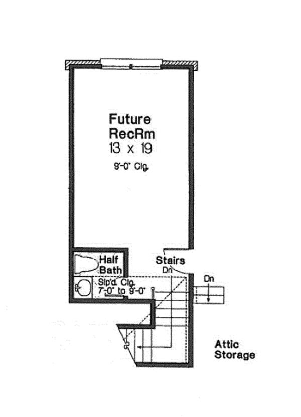 European Floor Plan - Other Floor Plan Plan #310-1258