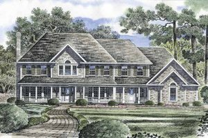 Dream House Plan - Victorian Exterior - Front Elevation Plan #316-230