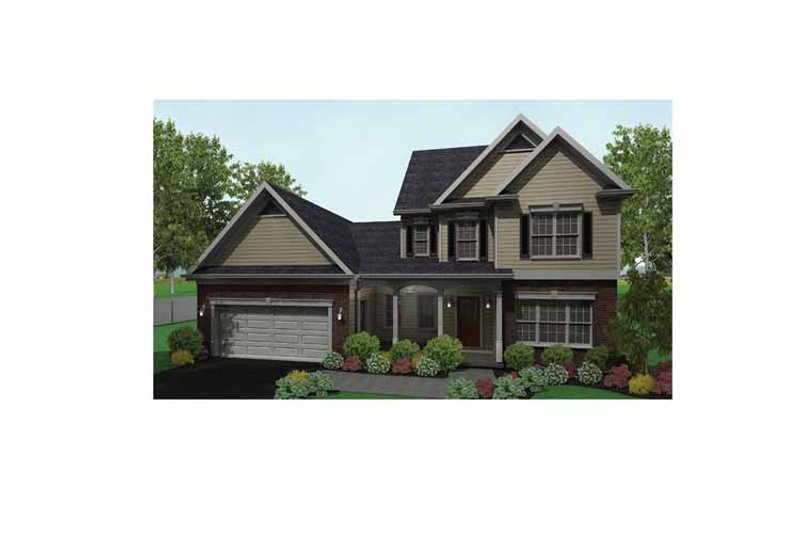 Colonial Exterior - Front Elevation Plan #1010-9 - Houseplans.com