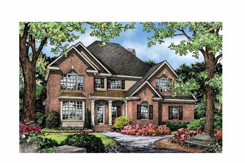 Traditional Exterior - Front Elevation Plan #929-842 - Houseplans.com