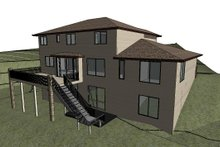 Home Plan - Modern Exterior - Rear Elevation Plan #1066-129
