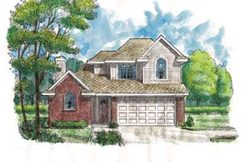 Home Plan - Traditional Exterior - Front Elevation Plan #410-154
