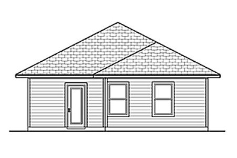 Craftsman Exterior - Rear Elevation Plan #84-447 - Houseplans.com