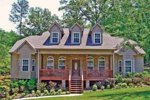 Country Exterior - Front Elevation Plan #314-232