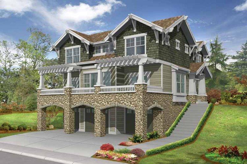 Dream House Plan - Craftsman Exterior - Front Elevation Plan #132-312