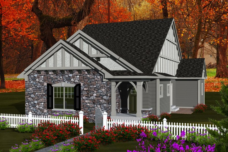 Ranch Exterior - Front Elevation Plan #70-1113