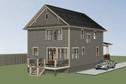 Craftsman Style House Plan - 3 Beds 2.5 Baths 1811 Sq/Ft Plan #79-266 Exterior - Other Elevation