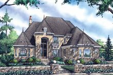 European Exterior - Front Elevation Plan #929-834