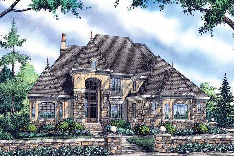 European Exterior - Front Elevation Plan #929-834 - Houseplans.com