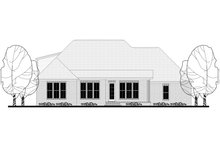 Craftsman Exterior - Rear Elevation Plan #430-152