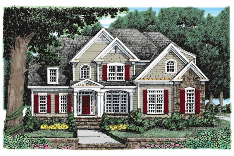 European Exterior - Front Elevation Plan #927-931