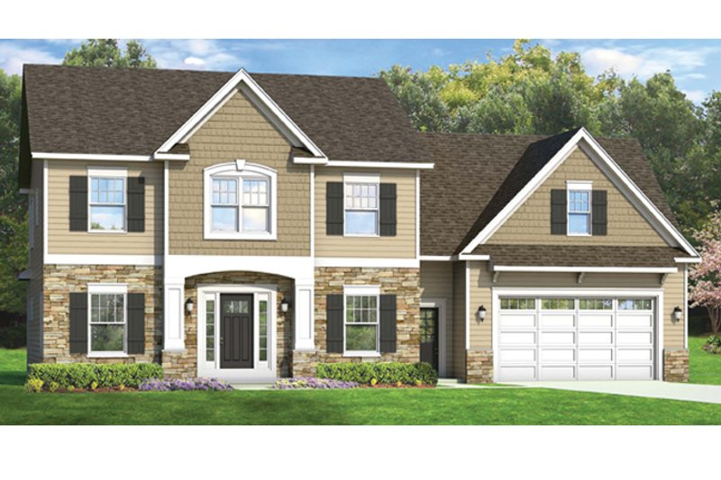 Architectural House Design - Colonial Exterior - Front Elevation Plan #1010-54