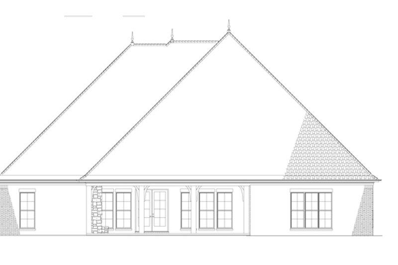 Country Exterior - Rear Elevation Plan #17-3340 - Houseplans.com