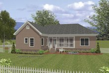 Home Plan - Traditional Exterior - Rear Elevation Plan #56-676