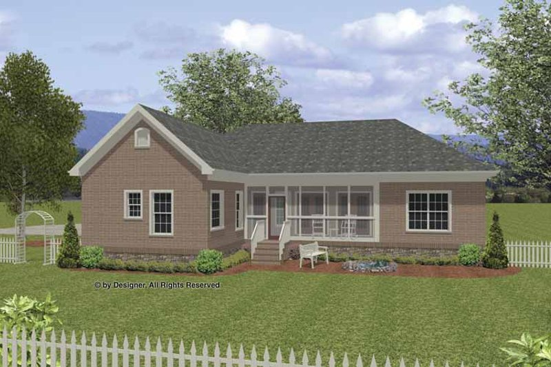 Traditional Exterior - Rear Elevation Plan #56-676 - Houseplans.com