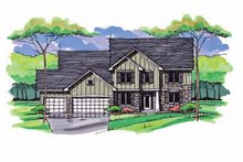 House Design - Colonial Exterior - Front Elevation Plan #51-1017