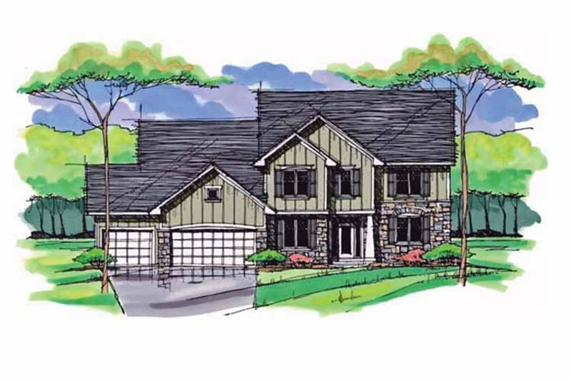 Dream House Plan - Colonial Exterior - Front Elevation Plan #51-1017