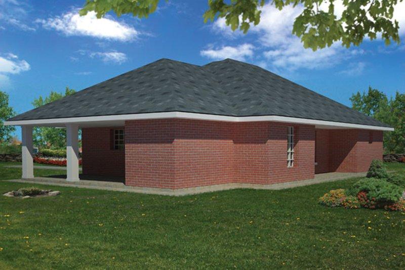 Ranch Exterior - Rear Elevation Plan #1061-29 - Houseplans.com