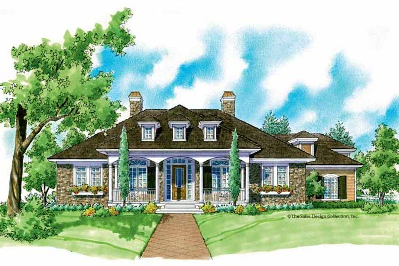 Architectural House Design - Country Exterior - Front Elevation Plan #930-217
