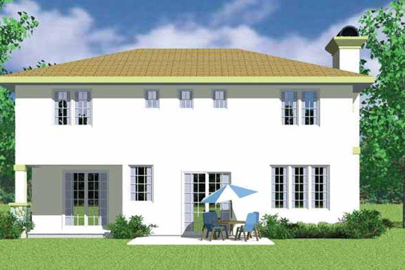 Prairie Exterior - Rear Elevation Plan #72-1134 - Houseplans.com