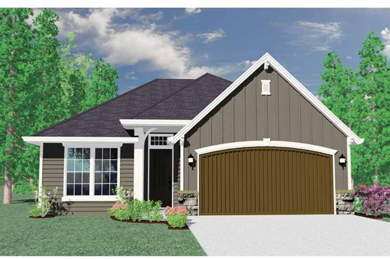 Country Exterior - Front Elevation Plan #509-211 - Houseplans.com