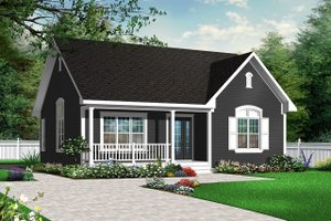 Country Exterior - Front Elevation Plan #23-2278