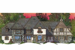 Dream House Plan - European Exterior - Front Elevation Plan #1016-95