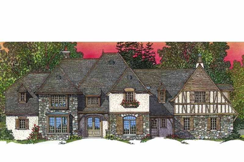 European Exterior - Front Elevation Plan #1016-95