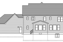 Colonial Exterior - Rear Elevation Plan #1010-162