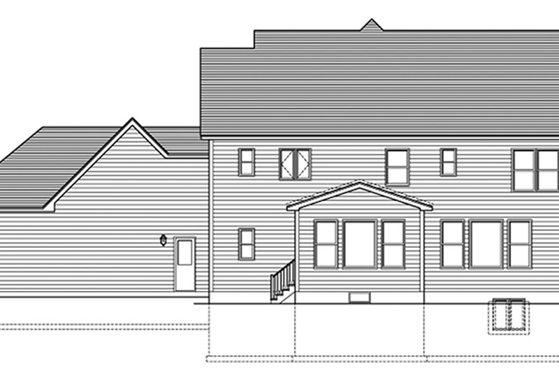 Colonial Exterior - Rear Elevation Plan #1010-162 - Houseplans.com