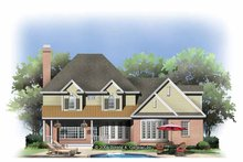 House Plan Design - Traditional Exterior - Rear Elevation Plan #929-801